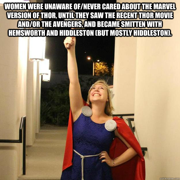 Women Were Unaware Ofnever Cared About The Marvel Version Of Thor