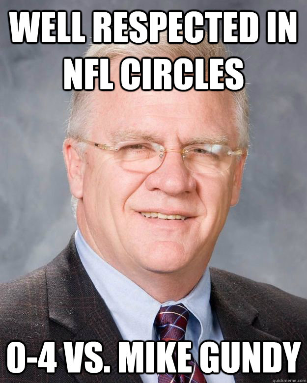Well respected in NFL Circles 0-4 vs. Mike Gundy - Well respected in NFL Circles 0-4 vs. Mike Gundy  Mike Sherman