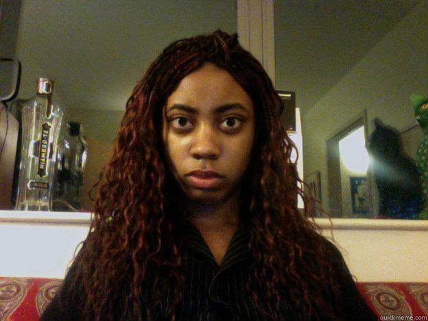 unamused black girl