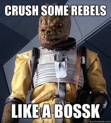 Crush some rebels  Like A BOSSK