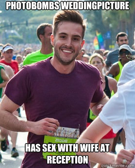 Photobombs weddingpicture has sex with wife at reception - Photobombs weddingpicture has sex with wife at reception  Ridiculously photogenic guy