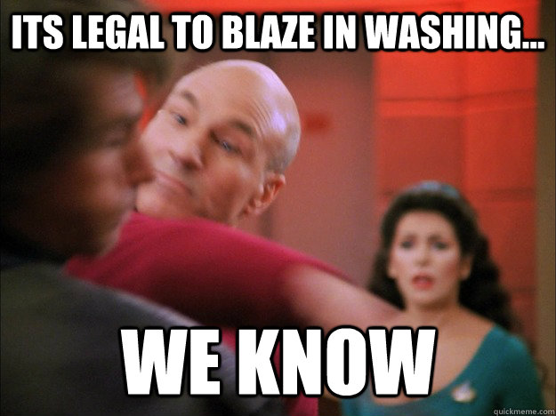 Its legal to blaze in washing... we know