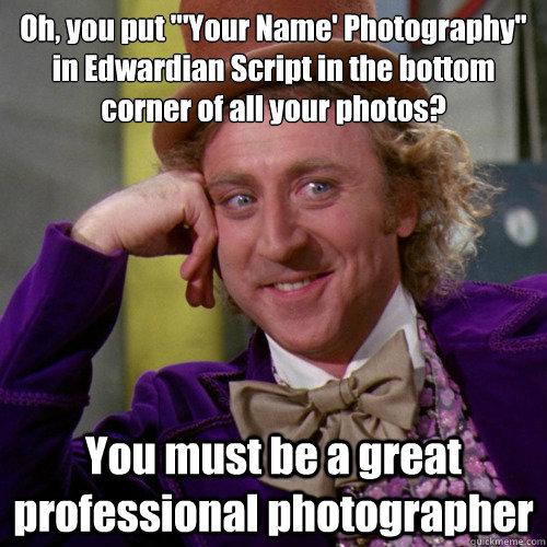 how to put your name on a photo
