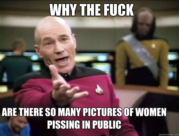 WHY THE FUCK ARE THERE SO MANY PICTURES OF WOMEN PISSING IN PUBLIC