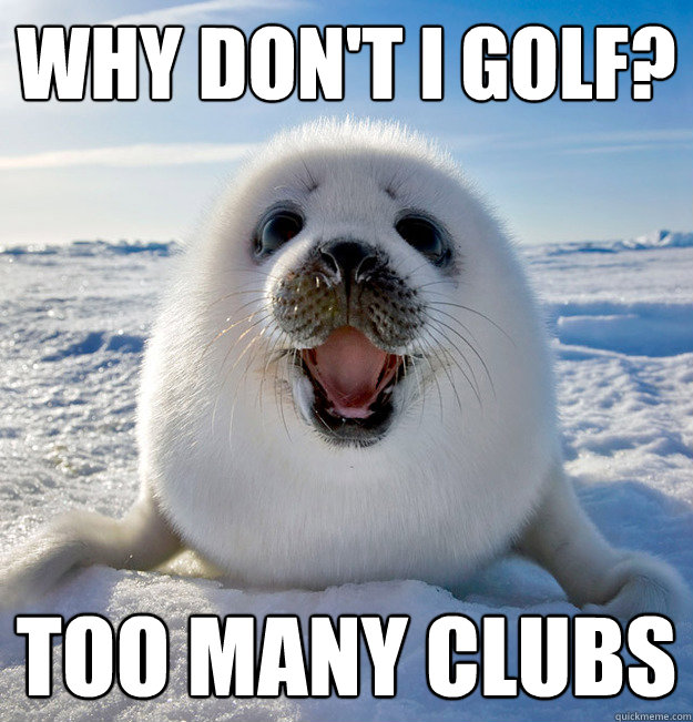 Why don't I golf? Too many clubs