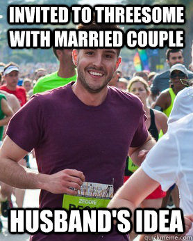 Invited to threesome with married couple husband's idea - Invited to threesome with married couple husband's idea  Ridiculously photogenic guy