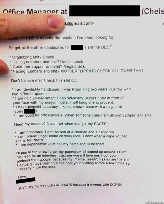 best resume cover letter ever submitted