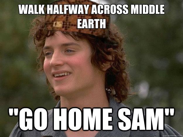 Walk halfway across Middle earth