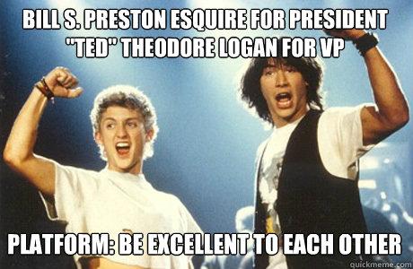 Bill S. Preston Esquire For President