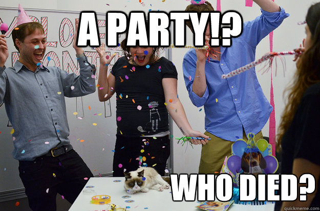 A PARTY!? WHO DIED? - A PARTY!? WHO DIED?  Misc