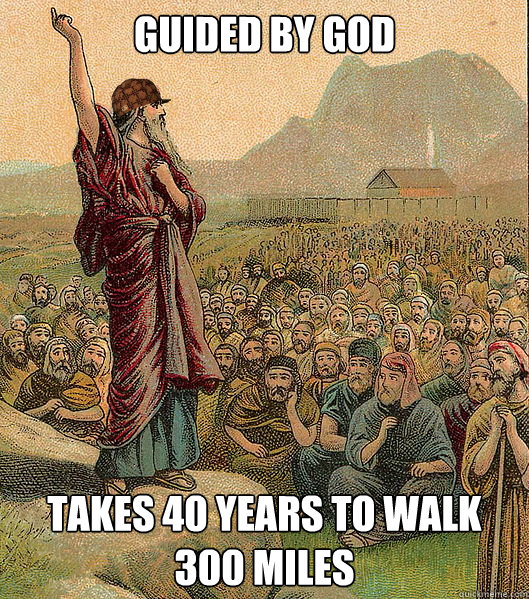 Guided by God Takes 40 years to walk 300 miles