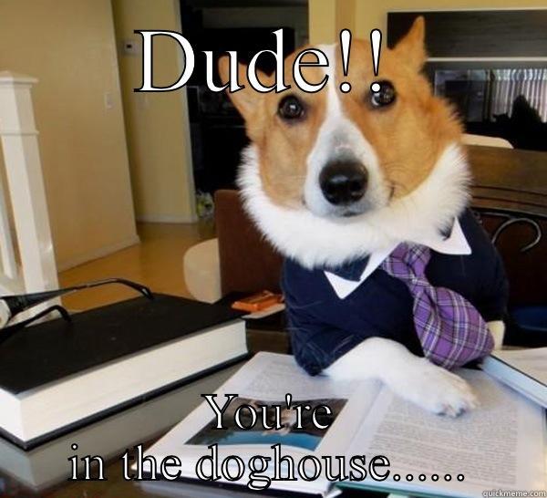 28fe97a9131c239d7d2616e658f55b63456c365be13399b2d903504b1fccbc06 bad husband! quickmeme,Doghouse Meme