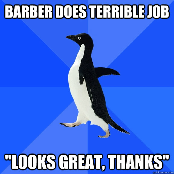 barber does terrible job