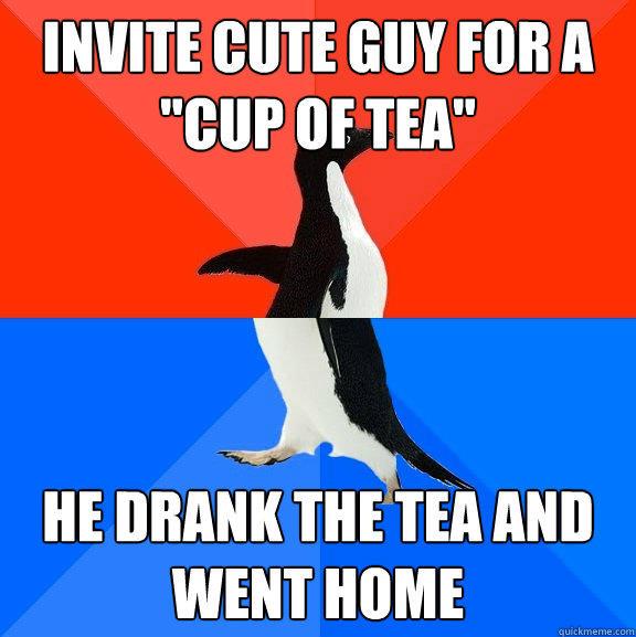 invite cute guy for a