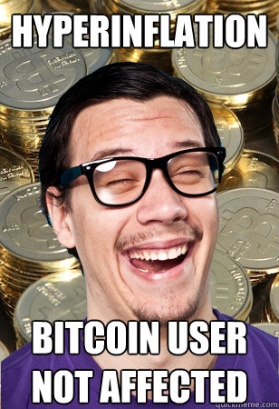 hyperinflation bitcoin user not affected