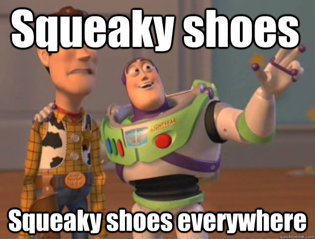 Squeaky shoes Squeaky shoes everywhere - Squeaky shoes Squeaky shoes everywhere  Pinks everywhere