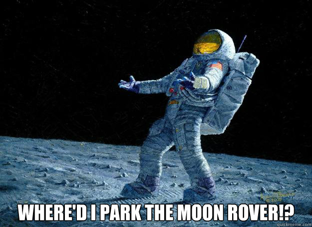 Where'd I park the Moon Rover!?