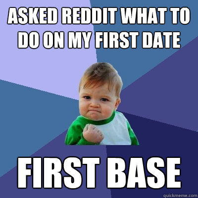 Asked reddit what to do on my first date first base