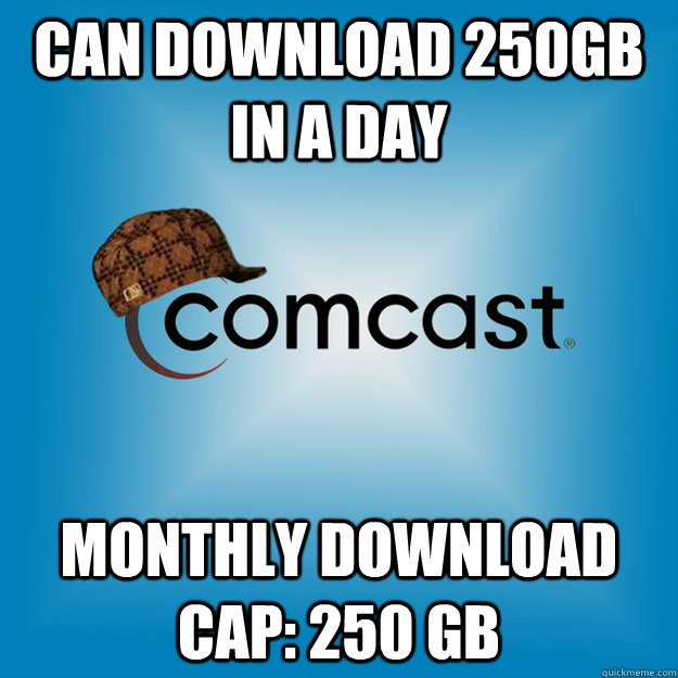 can download 250gb in a day Monthly Download cap: 250 GB