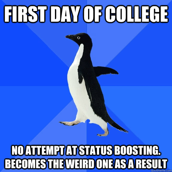 first day in college status