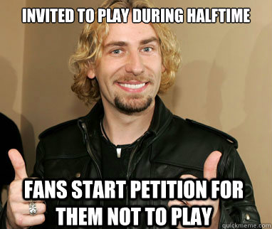 invited to play during halftime fans start petition for them not to play