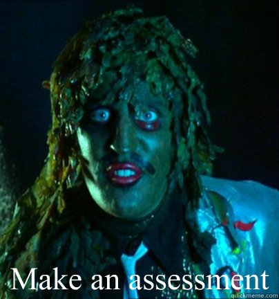 Make an assessment   Old gregg
