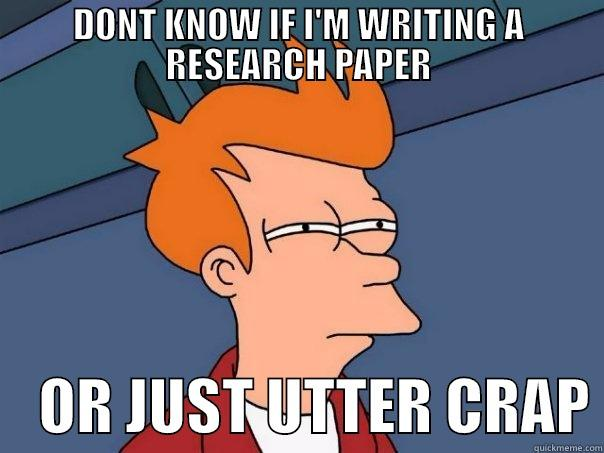 I'm writing a research paper...?