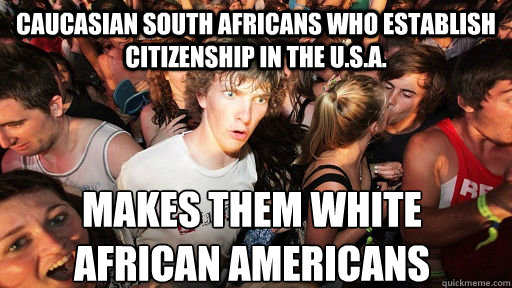 white south africans in usa