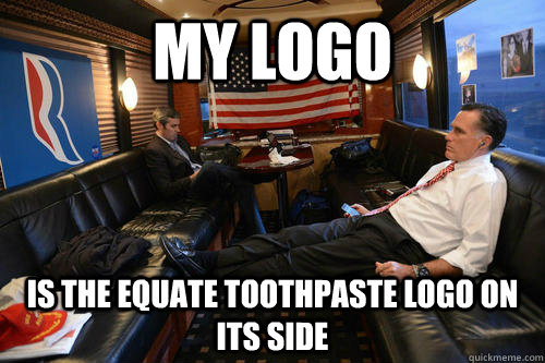 my logo  is the equate toothpaste logo on its side