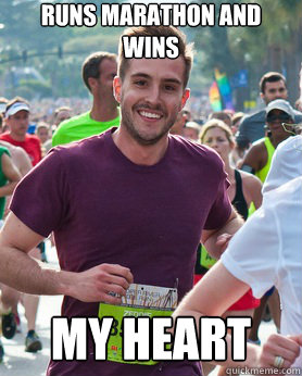 runs marathon and wins my heart - runs marathon and wins my heart  Ridiculously photogenic guy