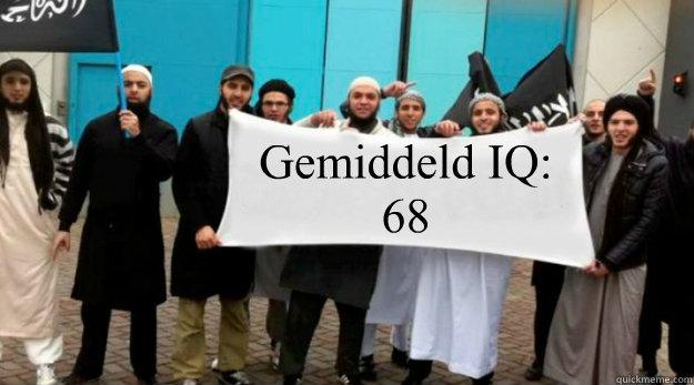 Gemiddeld IQ: 68