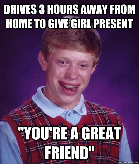 drives 3 hours away from home to give girl present