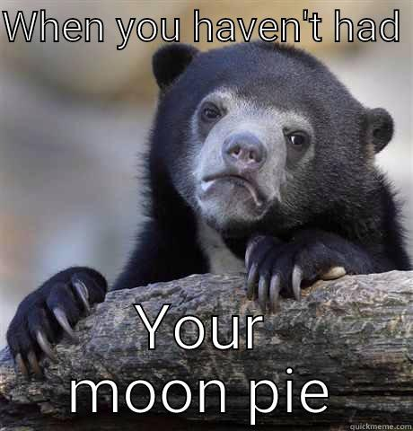 WHEN YOU HAVEN'T HAD  YOUR MOON PIE Confession Bear