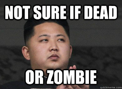 not sure if dead or zombie
