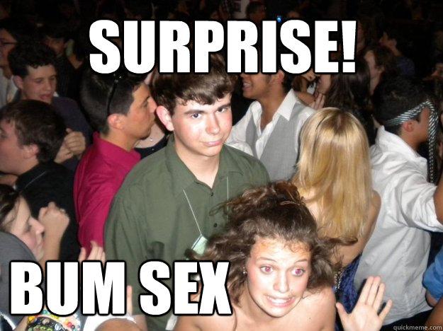 surprise! bum sex - surprise! bum sex  Public Sex Creep
