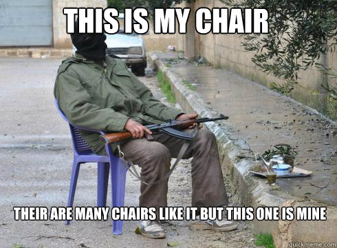their are many chairs like it but this one is mine this is my chair