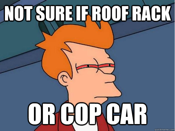 Not sure if roof rack Or cop car