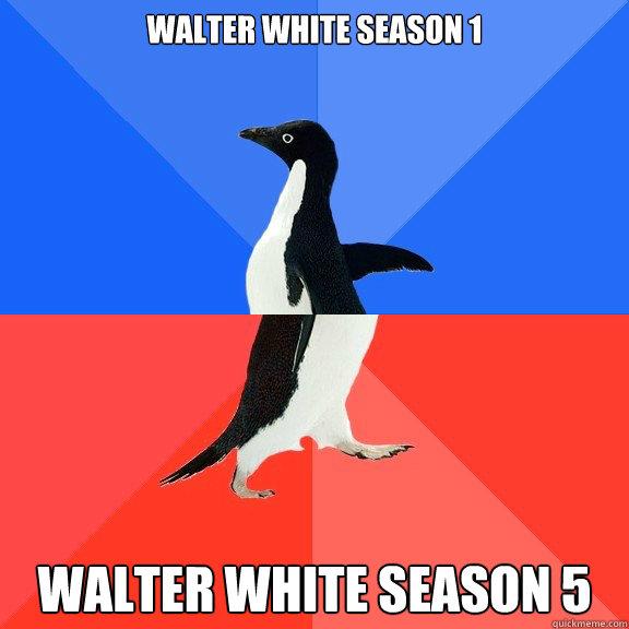 Walter White Season 1 Walter White Season 5 - Socially ...