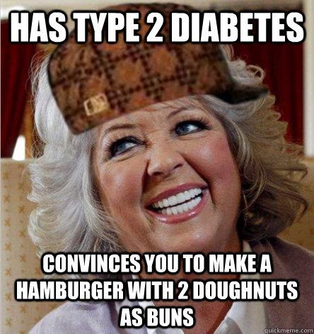 has type 2 diabetes convinces you to make a hamburger with 2 doughnuts as buns
