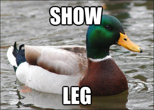 show leg - show leg  Actual Advice Mallard