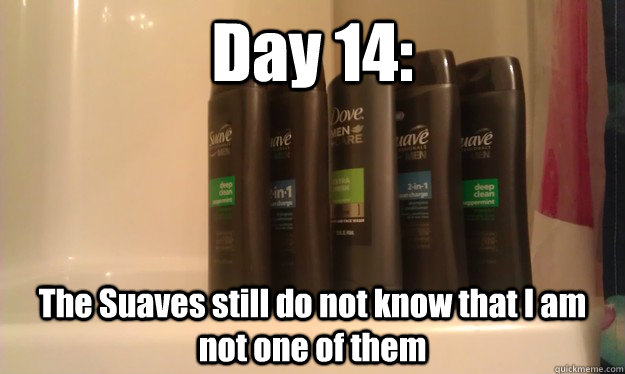 Day 14: The Suaves still do not know that I am not one of them - Day 14: The Suaves still do not know that I am not one of them  Misc