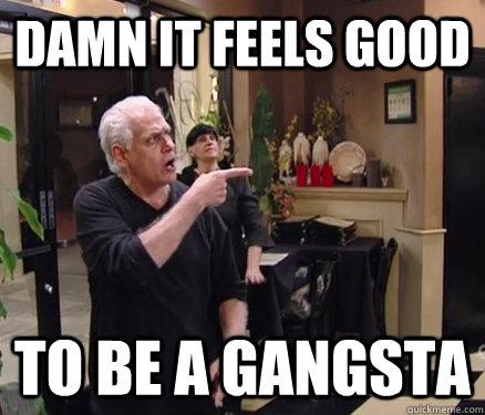 DAMN IT FEELS GOOD TO BE A GANGSTA - DAMN IT FEELS GOOD TO BE A GANGSTA  Samy Gangsta