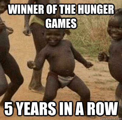Winner of the hunger games 5 years in a row