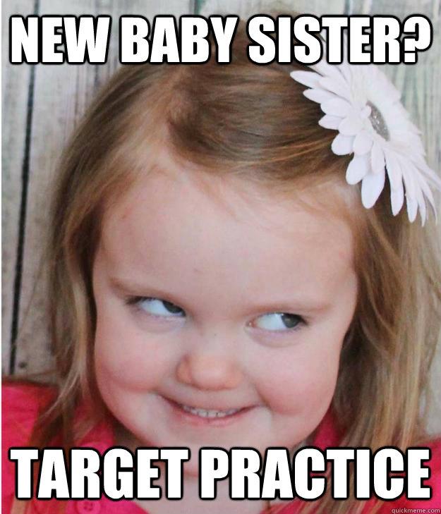 New baby sister? Target Practice  - New baby sister? Target Practice   Creepy Little Girl