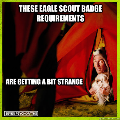 These eagle scout badge requirements are getting a bit strange