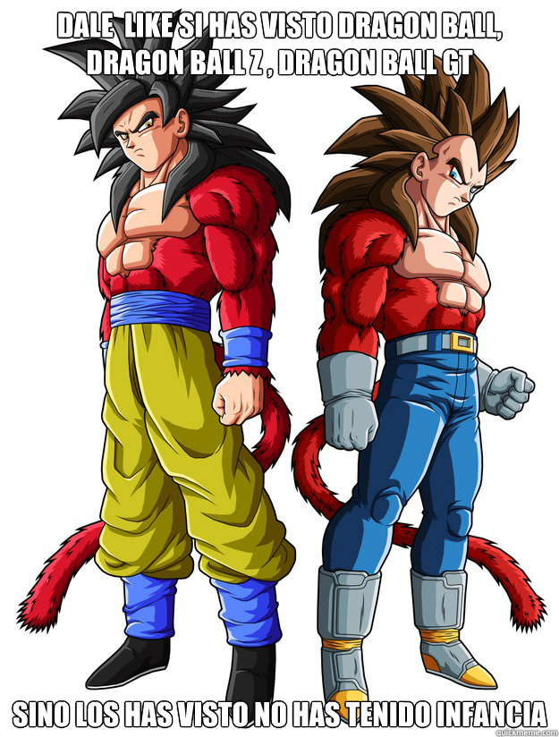 Dale Like Si Has Visto Dragon Ball Dragon Ball Z Dragon Ball Gt
