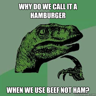 Why do we call it a HAMburger when we use beef not ham?