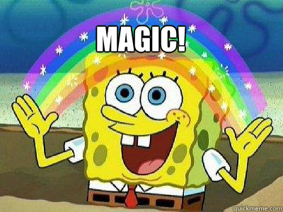 MAGIC!   rainbow spongebob