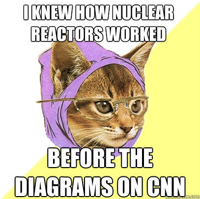 i knew how nuclear reactors worked before the diagrams on CNN - i knew how nuclear reactors worked before the diagrams on CNN  Hipster Kitty