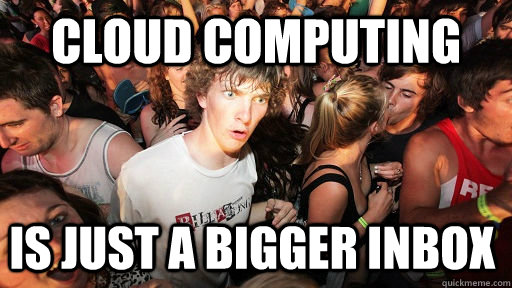 cloud computing is just a bigger inbox - cloud computing is just a bigger inbox  Sudden Clarity Clarence
